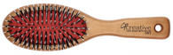 Creative Classic Natural Birchwood Boar Bristle With Nylon Brush