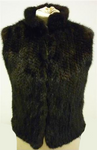 Knitted Mink Gilet