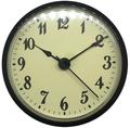 3-1/2 (90mm) Ivory Face Arabic Black Rim Clock Insert/Fit Up