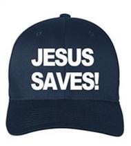 Scripture Hat - Jesus Saves (navy blue)