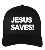 Scripture Hat - Jesus Saves (black)
