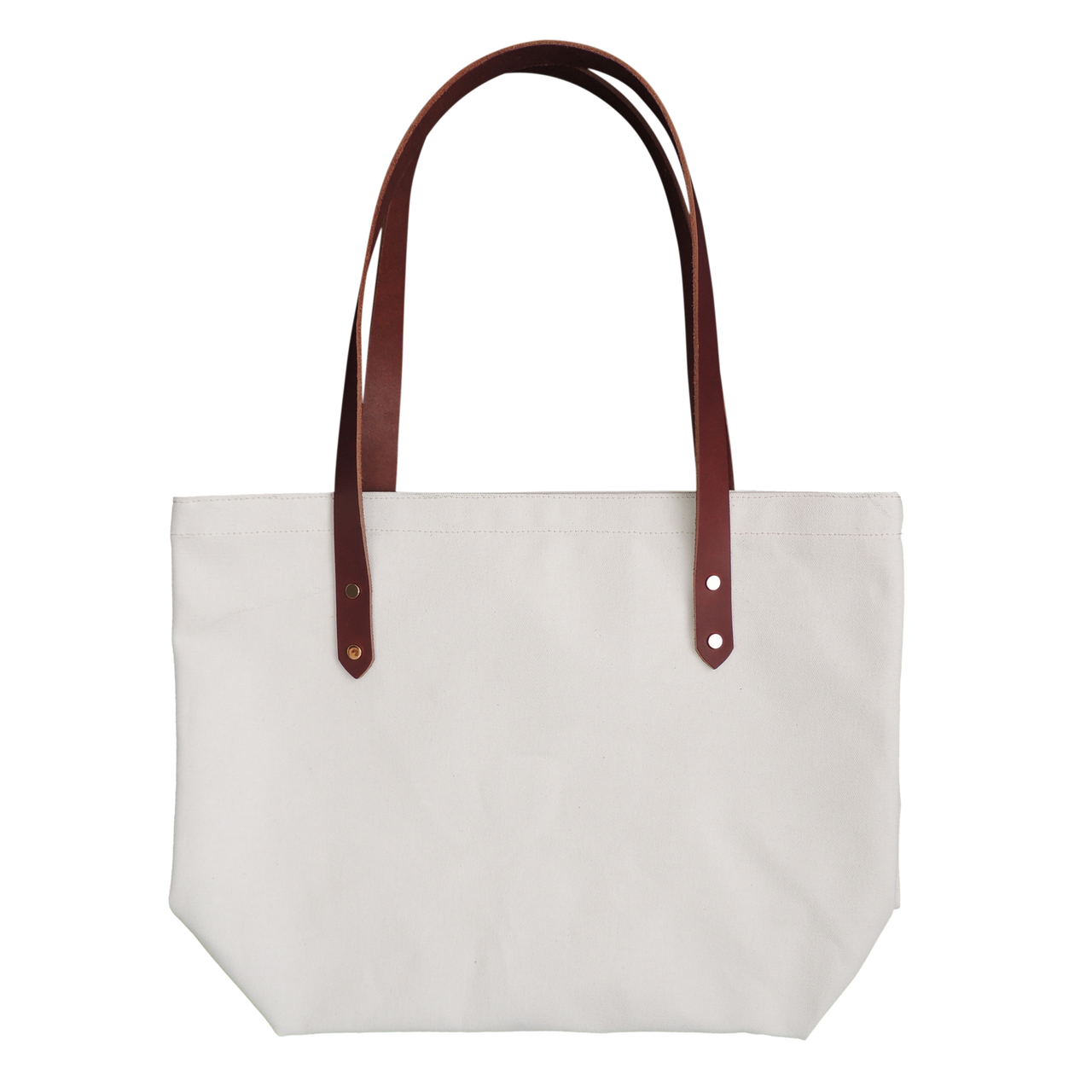 P.I.Y Primed Canvas Market Tote with Leather Straps