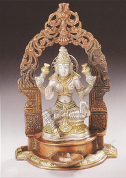 Seated Lakshmi Under Arch, 9""