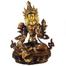 "Green Tara Statue, 8"""