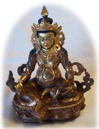 "Dzambhala Prosperity Statue, 8"""