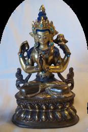 """Avalokiteshvara Statue, 6""""H"""