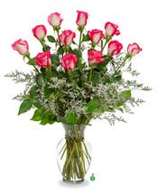 A Dozen Bi-Colored Roses