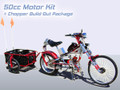Schwinn Stingray OCC Chopper Build Out Package + 50cc 2 Cycle Center Mount Speedster Bicycle Motor Kit - Standard Clutch