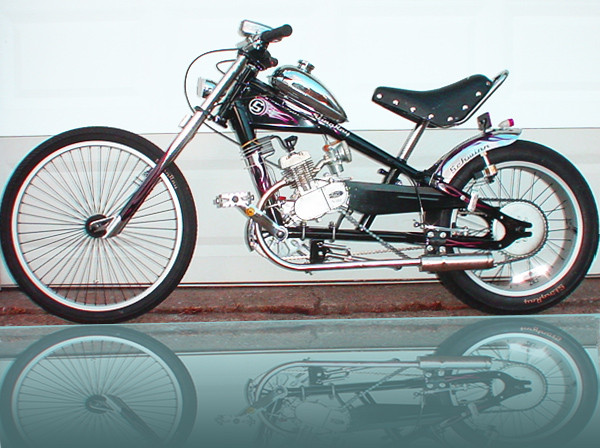 Build Chopper Bicycle http://www.livefastmotors.com/products/schwinn-stingray-occ-chopper-build-out-package-w-o-bicycle-motor-kit.html