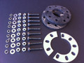 36 tooth rear sprocket with mounting gear for gas powered engine for bicycle. Useful for highest speed and lowest rpm on flat ground.