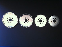 Showing different sprocket sizes. See other listings for additional sizes.