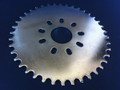 40 tooth rear sprocket for gas powered engine for bicycle. Useful for speed and lower engine rpm.