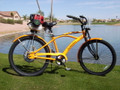 Motorized Beach Cruiser Bike Gas Powered Motor Kit to build a Moped