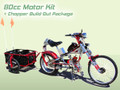 Schwinn Stingray OCC Chopper Build Out Package + 80cc 2 Cycle Center Mount Speedster Bicycle Motor Kit - Standard Clutch