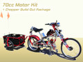 Schwinn Stingray OCC Chopper Build Out Package + 70cc 2 Cycle Center Mount Speedster Bicycle Motor Kit - Standard Clutch