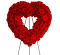 heart shape funeral spray