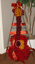 guitar made of flowers