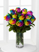 rainbow color roses