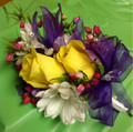 Double Yellow Rose Corsage