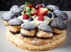 Dark Chocolate St Honore cake