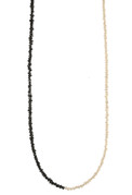Pearl & Black Diamond Necklace