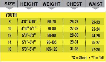 junior gloves size guide