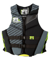 Body Glove Phantom Teen PFD Charcoal/Black - Front