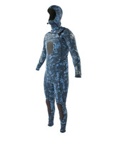 Body Glove Free Dive Slant Hooded 5/4/3 Men's Fullsuit in Blue Camo - Front