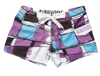 Jet Pilot Playfull Plaid Boardshort Purple - Front