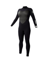 Front view of 2014 Body Glove 3/2mm Method 2.0 Womens Fullsuit in Black Color