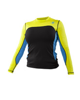 2014 Body Glove Womens Performance L/A Rashguard  in VIRI color - Front
