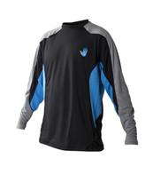 Body Glove Performance Junior L/A Rashguard in Empire Blue / Black - front