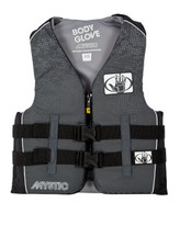 Body Glove Mystic Teen Nylon USCGA PFD in Black - Front