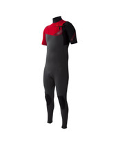 Body Glove Prime 2mm Slant Zip S/A Fullsuit in Red - Front