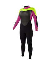Body Glove EOS 3/2 Fullsuit in Pink/Chartreuse - Front