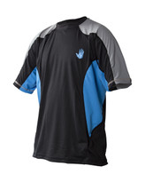 Body Glove Performance Junior S/A Shirt in Empire Blue/Black -  Front