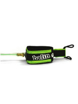 The SUPER is a new improved leash with detachable railsaver and dual rate urethane cord