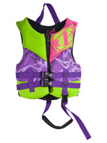 Jet Pilot Firecracker Child Neo PFD in Purple