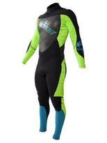 Jetpilot Cause 3/2 Men's Fullsuit in blue/green - front