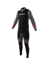 Body Glove Voyager Mens Wetsuit in Grey/Red - front