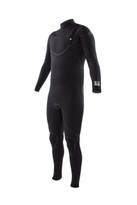 2015 Body Glove Vapor X Slant 4/3 Men's Fullsuit in black - front