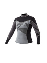 Body Glove Stellar 1mm L/A Womens Top in Black/Grey