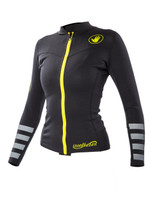 Body Glove Insotherm .5mm Front Zip L/A Womens Top in black