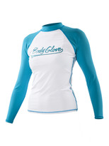 Body Glove Raglan Loosefit Rashguard in White/Turquoise