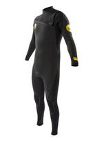 2016 Body Glove Prime 4/3mm Slant Zip Men's Fullsuit in black