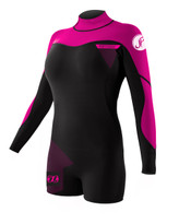 Jetpilot Flight 2mm Womens Springsuit in Pink