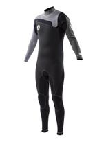 2016 Body Glove Prime 4/3mm Slant Zip Men's Fullsuit in gray