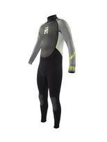Body Glove Pro 3 Men's 3/2 Fullsuit in Grey/Lime - front