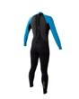Body Glove Pro 3 Womens Fullsuit in Blue/Black - back