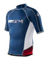 Super Rover 1mm S/A Surf Shirt in Iodine / Red - Front